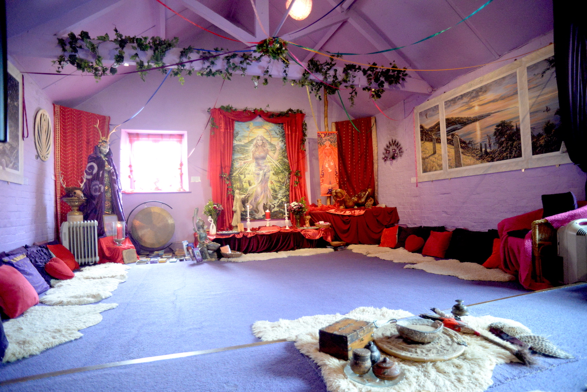 Goddess Temple Interior by Kim von Coels