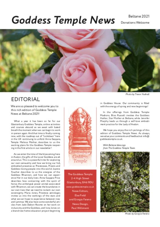 Beltane Goddess Temple News 2021